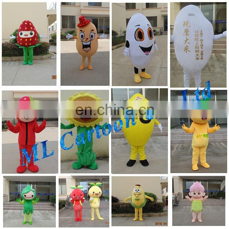 Hot sale Cartoon Costumes Ideas green apple fruit mascot costume