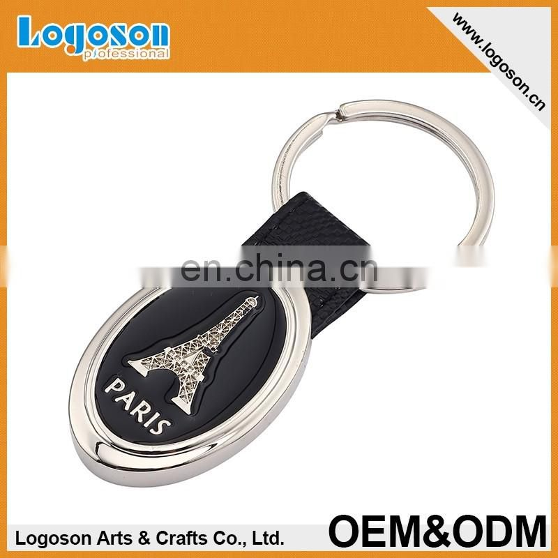 2016 Hot Selling Novelty Souvenir Key Ring Custom Leather Keychain