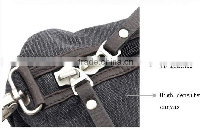 Military Canvas Leather Men Travel Bag Tote Luggage Bag Shoulder bag