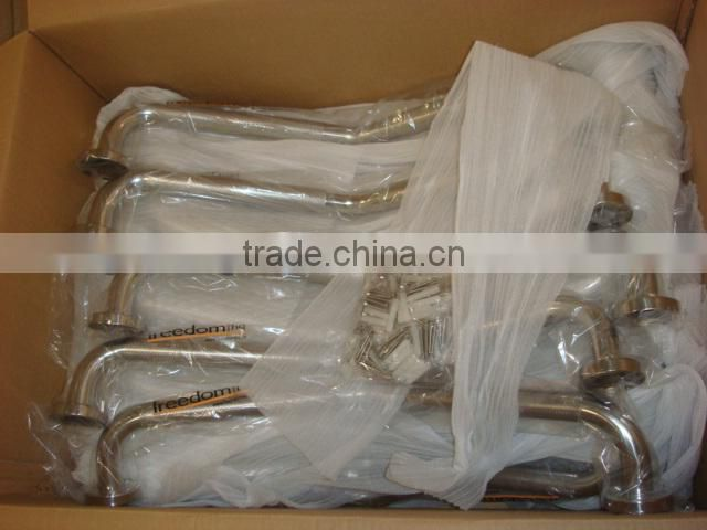 ISO&Sample Accepted,Guangdong u-shape angle toilet/bathroom bath tub stainless steel grab bars