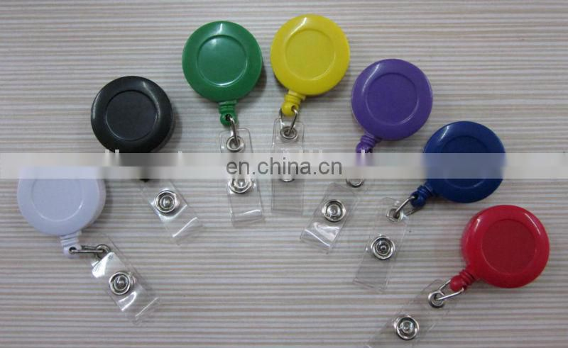 2013 fashion cheap promotional retractable ID yoyo badge reel with lanyard, key ring high quality