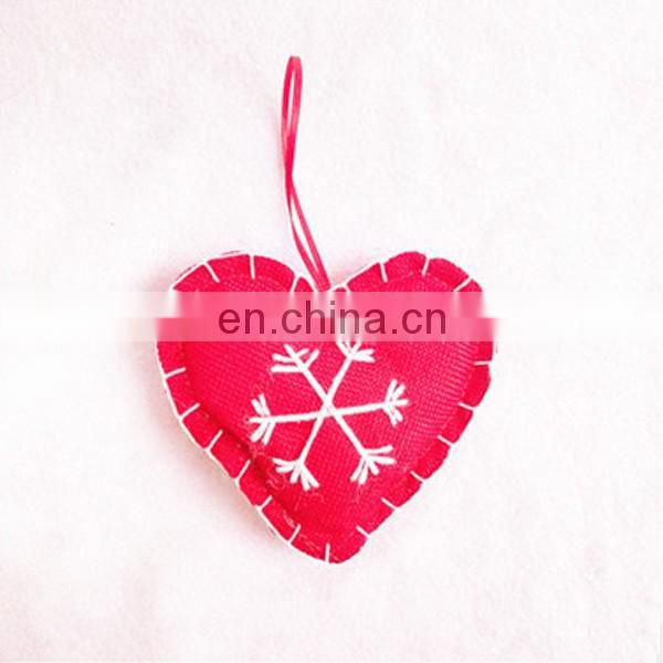 christmas decoration christmas star and hearts felt ornaments