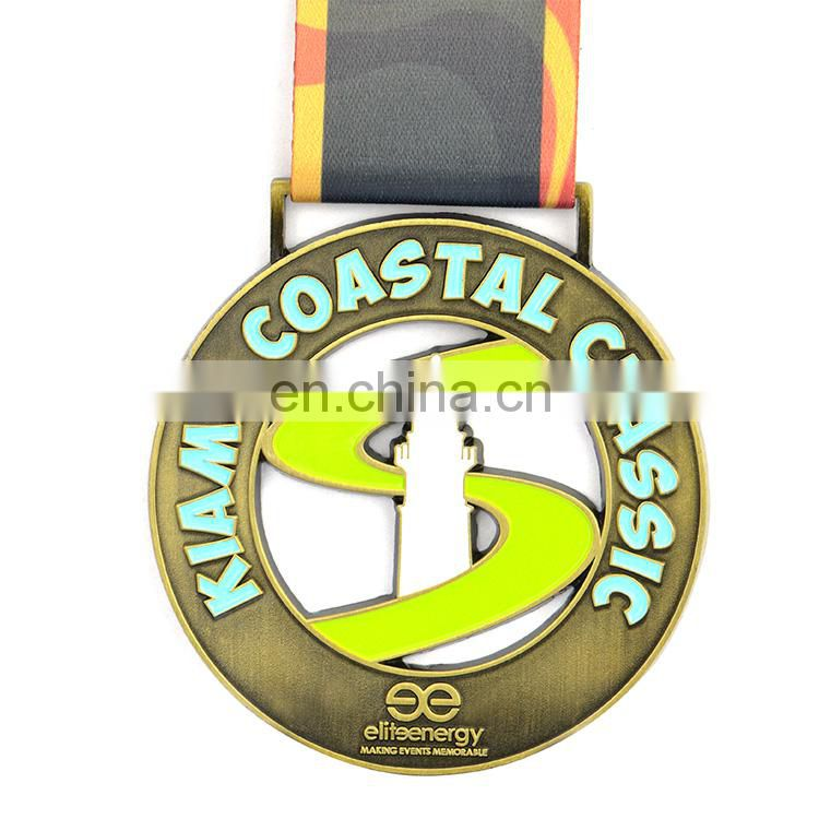 Free design custom embossed running racing medal