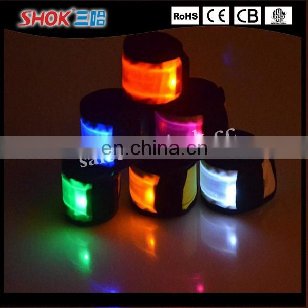 Wholesale LED Flashing wrist strap with 7 colors for sport