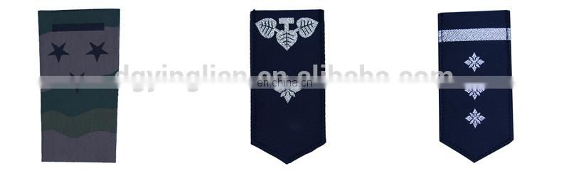 hand embroidery army shoulder epaulettes