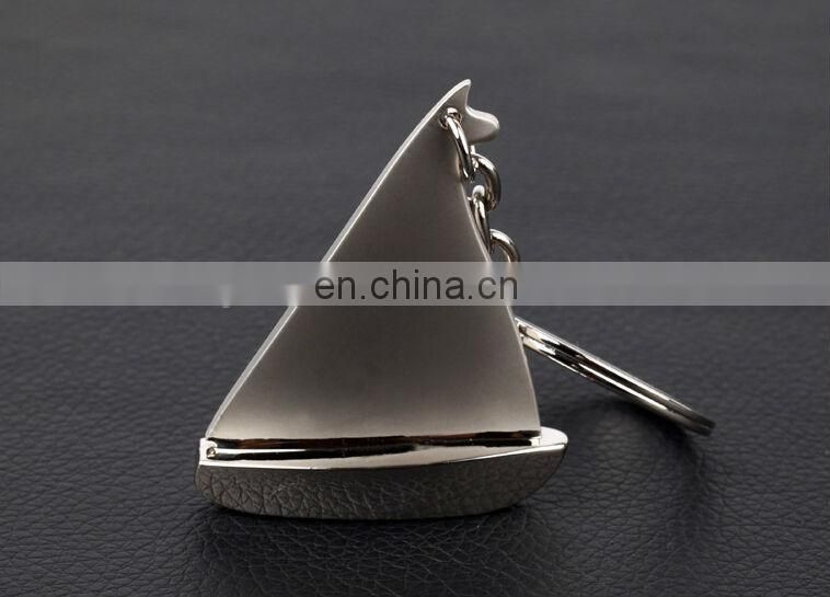 Deluxe Sailboat Silver Keyring