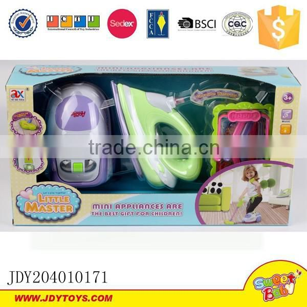 Pretend play toys home appliance mini vacuum cleaner with music and light