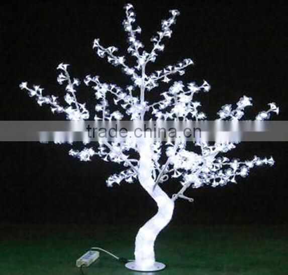 Home garden decorative 150cm Height outdoor artificial white flashing LED solar lighted up trees EDS06 1416