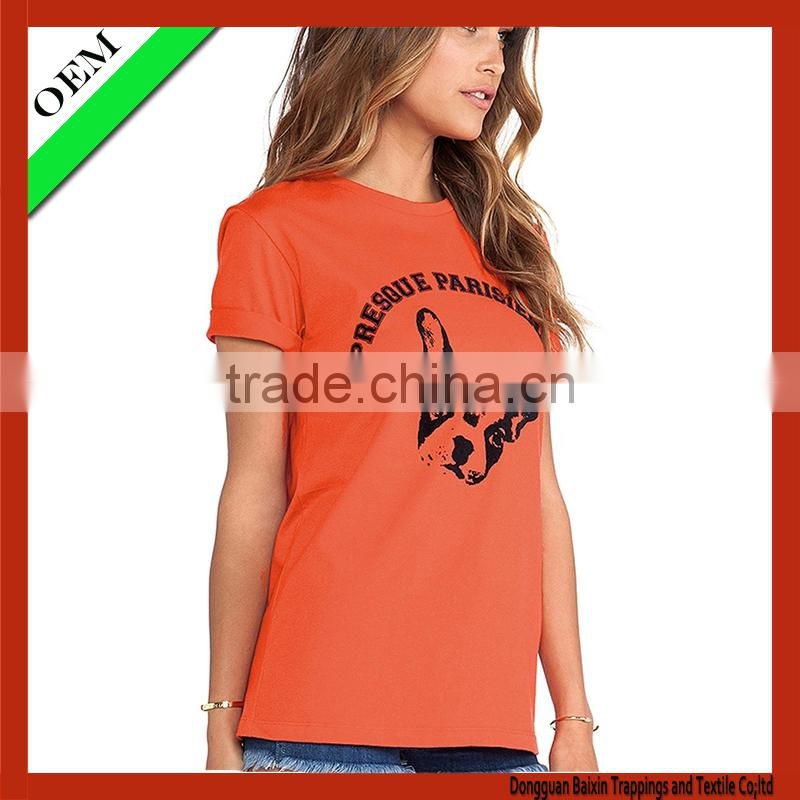 2015Custom t shirt women, cotton plain t shirt wholesale cheap china