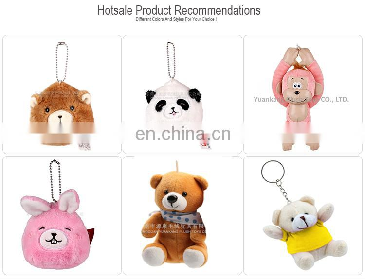 New design promotional cartoon plush squirrel keychain