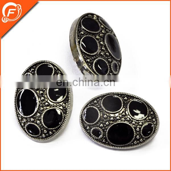 hand enamel black plastic buttons for apparel