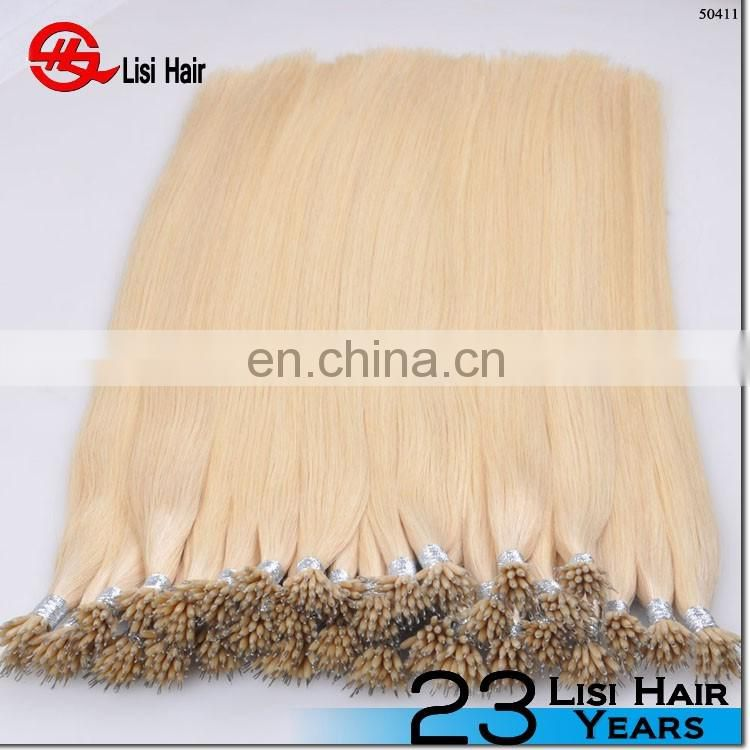 Top quality Tangle And Shedding Free Russian Hair Nano Ring Hair Extension For Sale