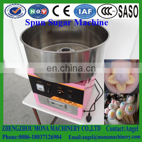 Wholesale gas 52cm diameter stainless steel cotton candy floss machine Image