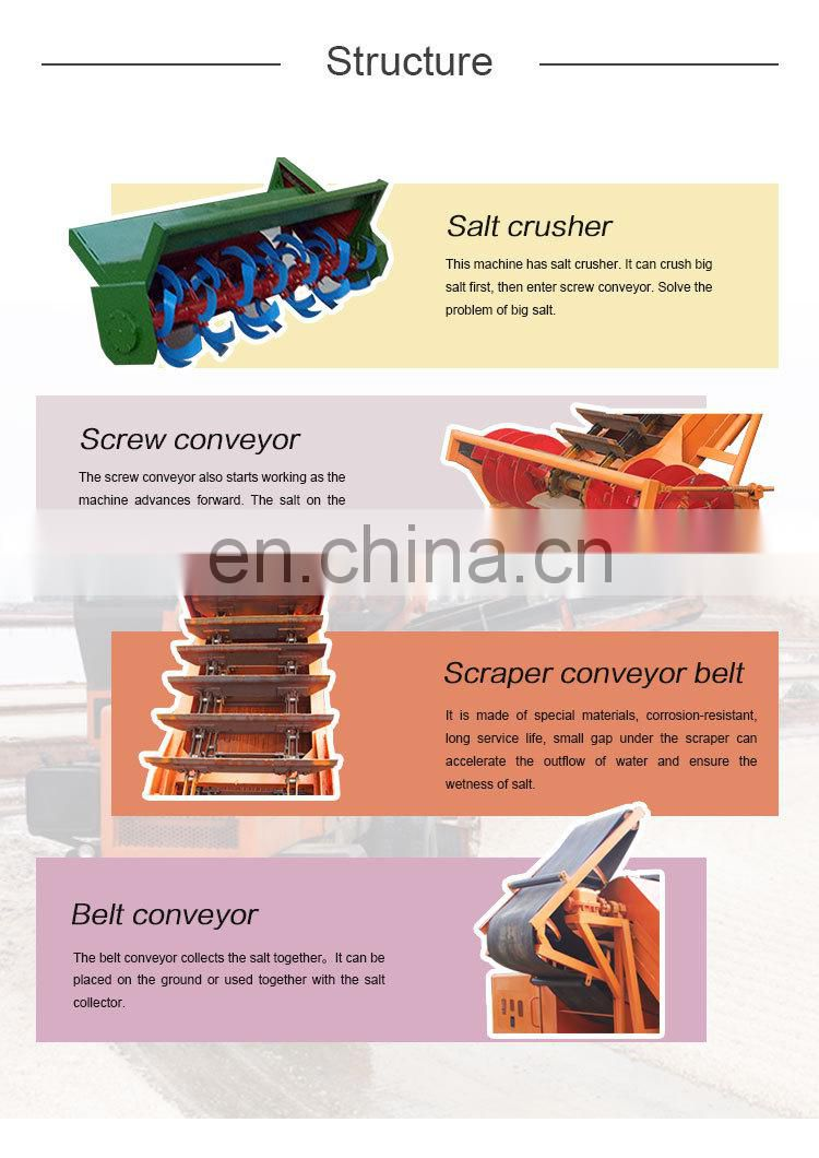 china suppliers salt combine Harvester cutting harvesting machine