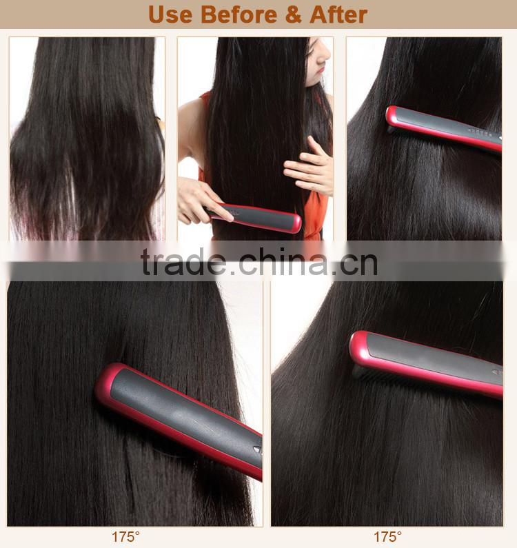 Top Quality Hot Air Electric Brush Hair Straightener in China
