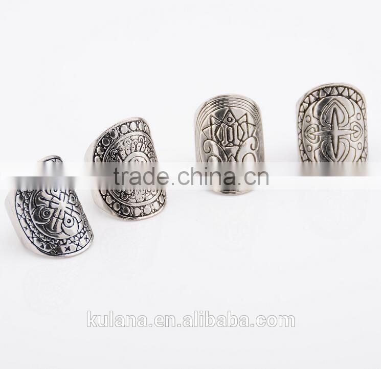Top Sale silver finger ring antique silver unique silver rings 4281