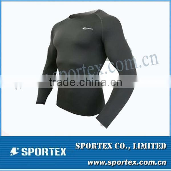 OEM compression clothing / long sleeve tight shirt / men's compression sportswear for men