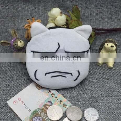 Carton Fashion Wallet Plush Children Mini Bag Cute Box Troll Plush Pocket