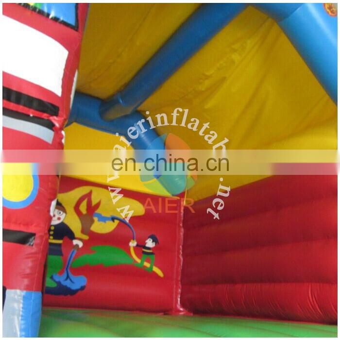 Outdoor inflatable bouncy castle fire truck commercial inflatable castles for sale