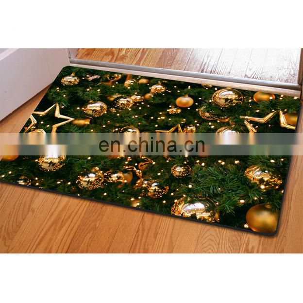 2017 new arrival christmas home decorate carpet,door entrance mat for home