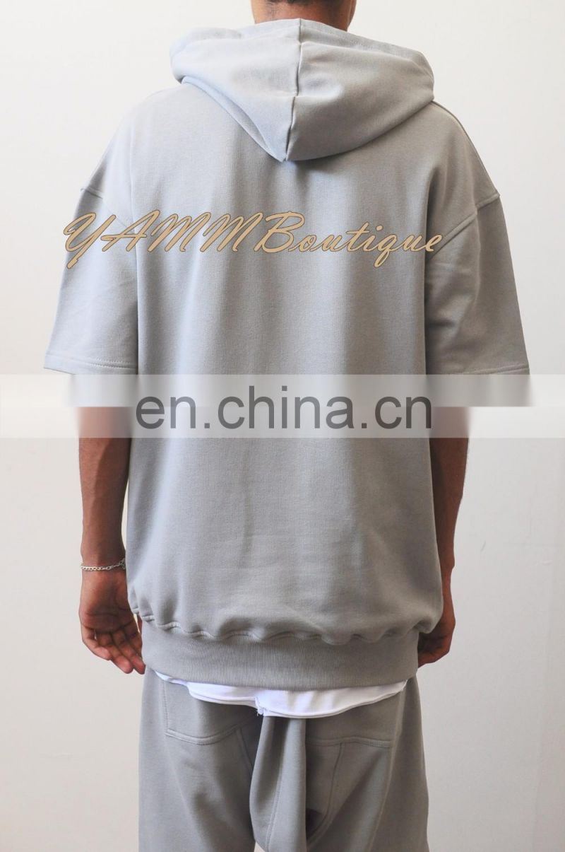 2017 Essential Oversized Short Sleeve Hoodie KNYEWEST