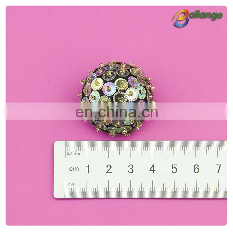 New year handmade accessories beaded decorative types of press buttons for garments