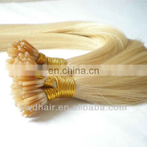 8-40 inch human hair extensions red color I stick tip human hair extension