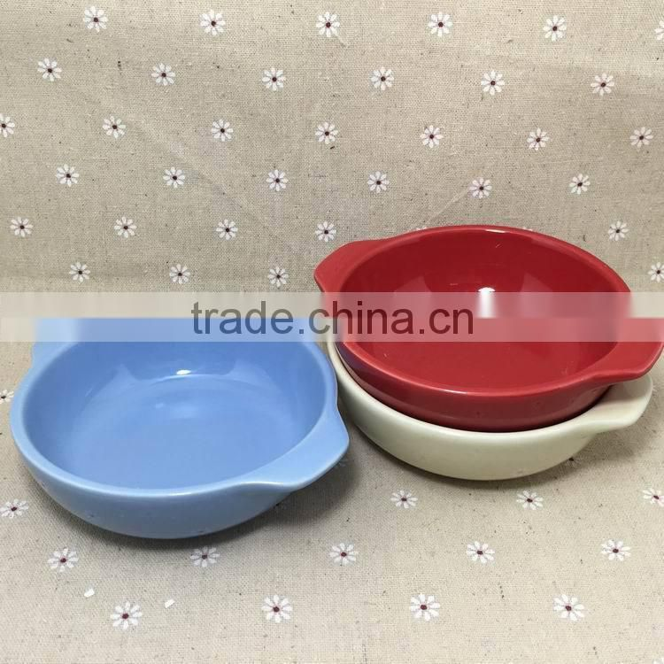 Rural style ceramic plates,stocked porcelain bakeware plate