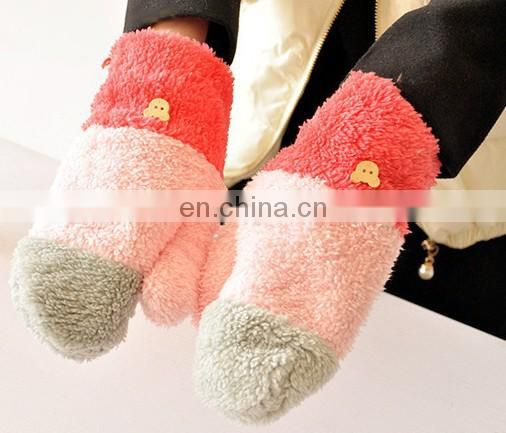 Fashion fleece glove women