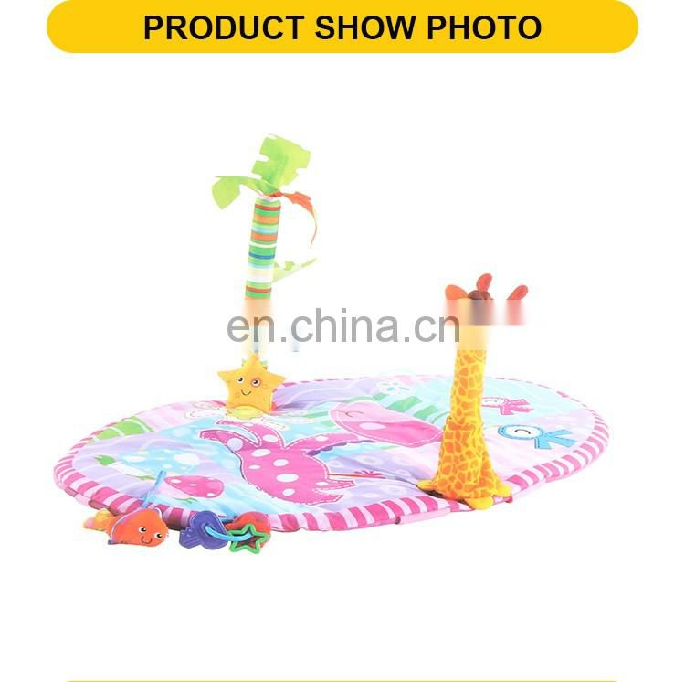 New design happy cartoon foldable toys the baby gym play mat