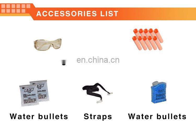 New design educational toys soft and water bomb military soft gun with professional shot glasses