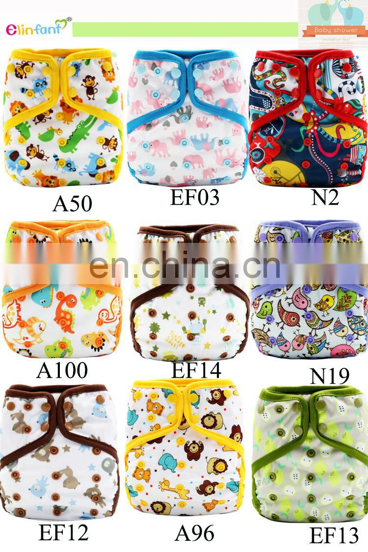 Elinfant waterproof cloth baby diaper resuable cloth diaper cover