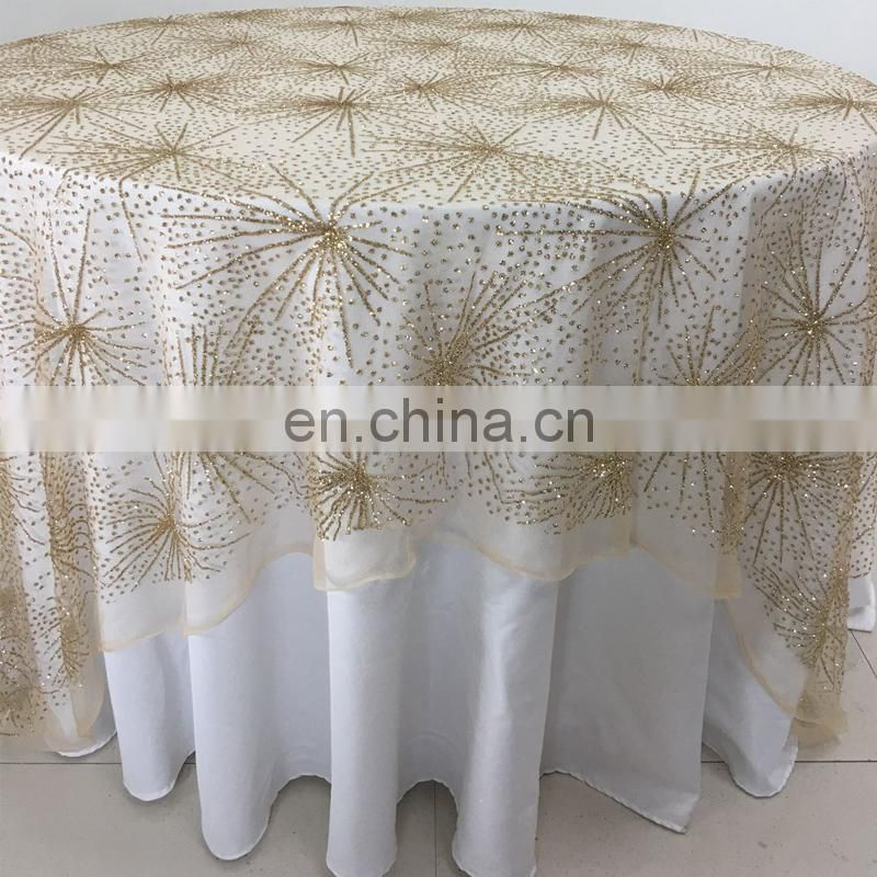 TC219A cheap gold banquet table overlays wedding