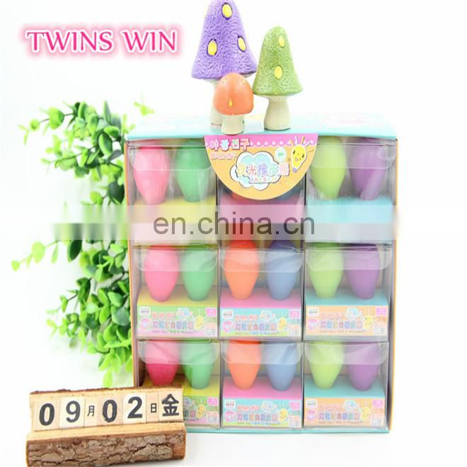 European Top sale school office stationery items custom printed novelty mini ball shaped rubber glowing erasers