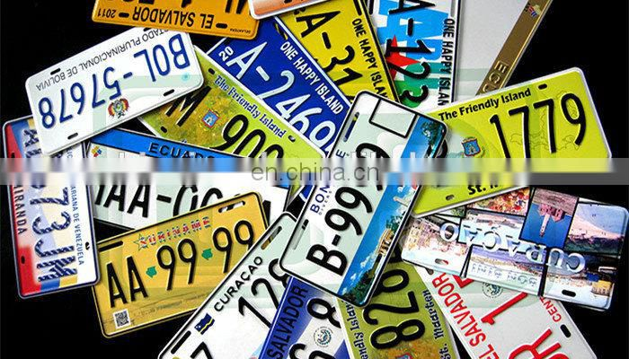 Car Accessory Metal Aluminum Custom Design Rectangular Printing License Plate