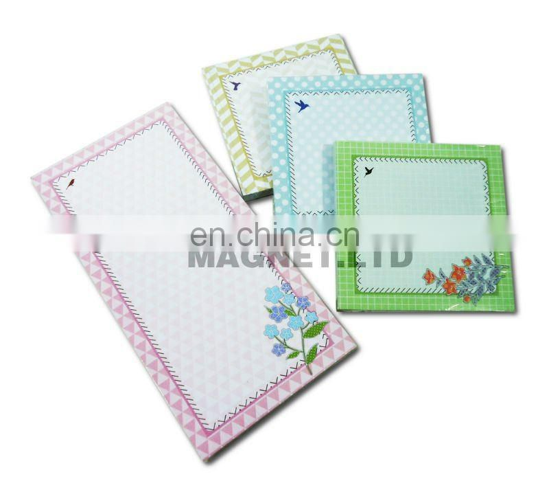 color printed magnetic note pad memo pad