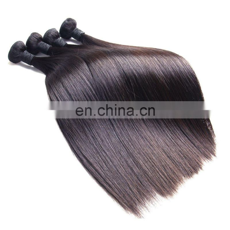 Factory wholesale double drawn brazilian human hair