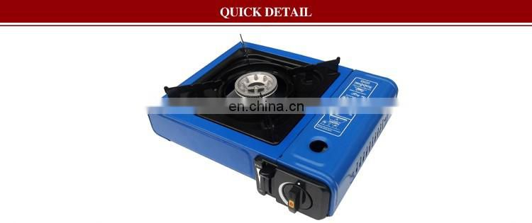 Popular Blue Color Electronic Ignition 1 No of Gas Burner Butane Portable Gas Stove