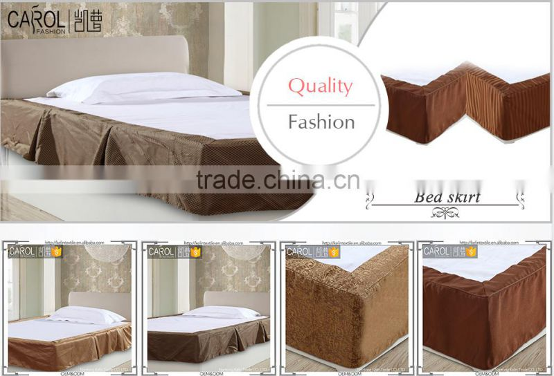 blow out sale in summer size available poly hotel bed skirt