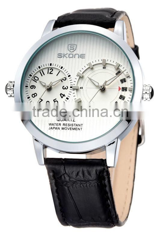 skone 9142 Double Quartz Movt quartz analog dual time watches Image
