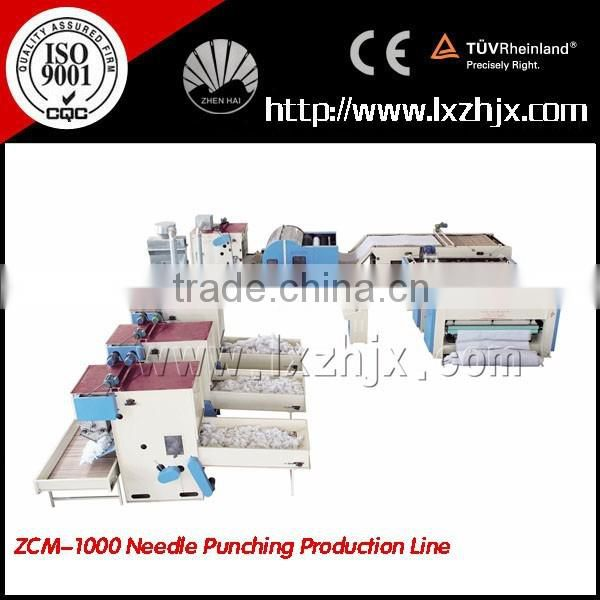 ZCJ-1000 geotextile Production Line for making needle punching felt