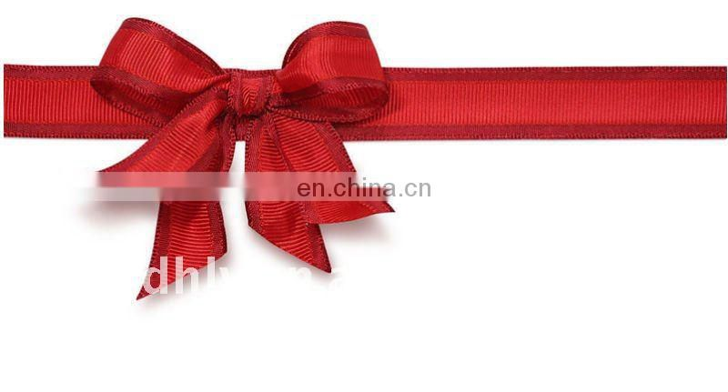 bright red color ribbons for bow tie
