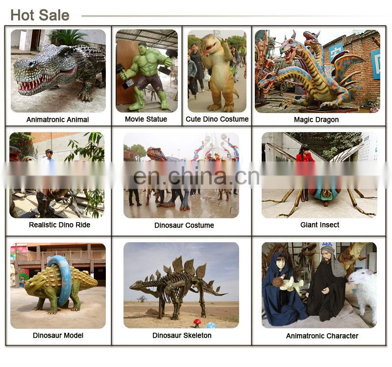 Theme Park Decoration Fiberglass Hippo Statue Exhibition