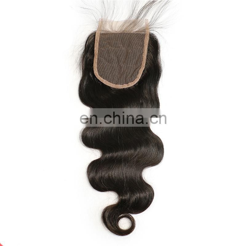 Raw indian hair frontal body wave cheap lace closure