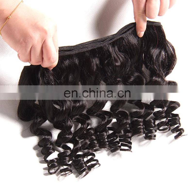 Factory wholesale brazilian hair Romance Bouncy Curls Funmi Hair Virgin Remy Human Extension Fumi Hair