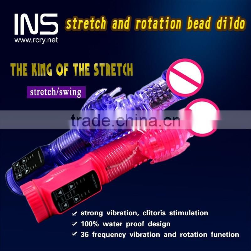 INS stretch and rotation bead dildo