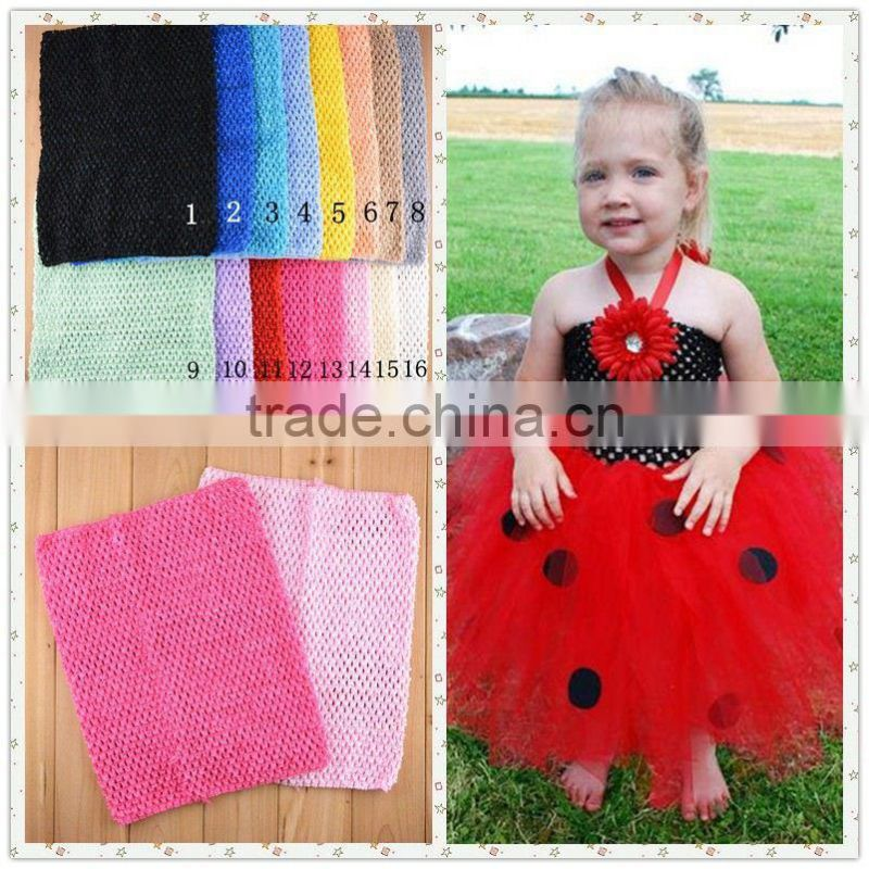 "New Baby colorful Crochet Tube Tops 12"" big size for Girls Pettiskirt Free Shipping tutu tops accessories"