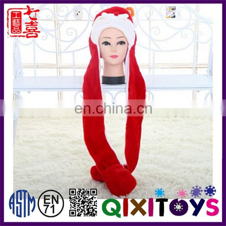 Hot selling funny christmas hat customized animal head plush hats interesting christmas ornaments ideas