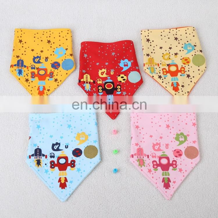 2017 new fashion design cute baby bibs unisex baby bandana drool bibs for drooling and teething