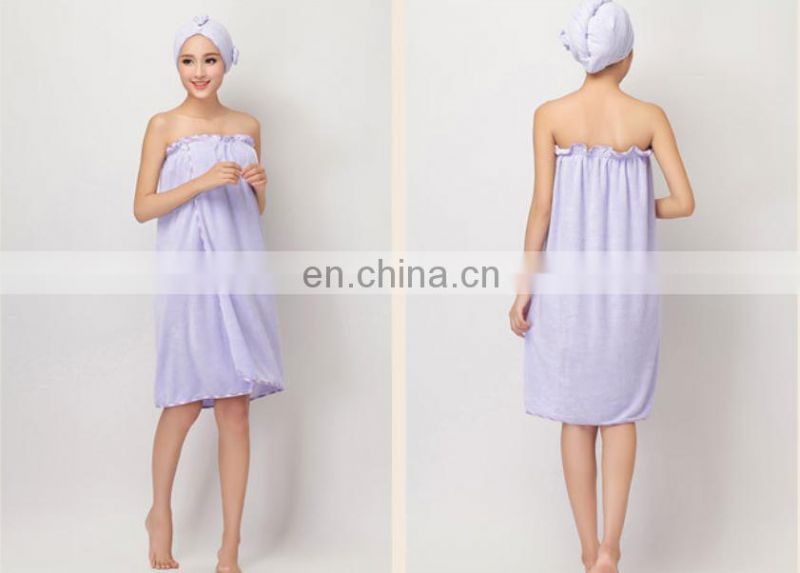 wholesale bamboo fiber bathrobe beauty turban